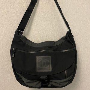 Chanel Sport Black Canvas Messenger Bag